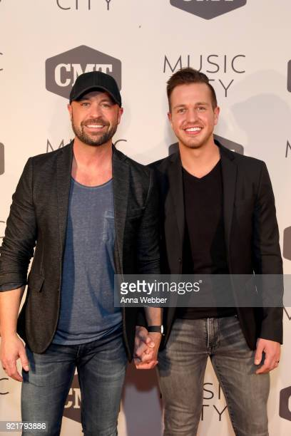 Radio personality Cody Alan and Trea Smith attend CMT's 'Music City' premiere party on February 20 2018 in Nashville Tennessee