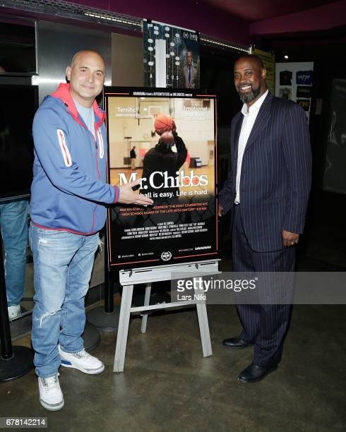 Radio Personality Craig Carton and Former NBA player Kenny Anderson attend the MR CHIBBS Opening Night screening at the IFC Center on May 3 2017 in...