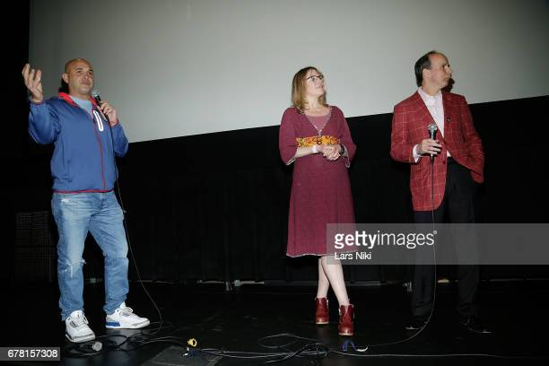 Radio Personality Craig Carton Director Jill Campbell and Producer Barry Greenstein on stage during the MR CHIBBS Opening Night screening and QA at...