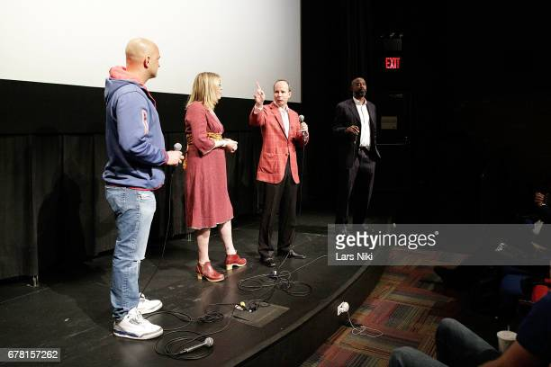 Radio Personality Craig Carton Director Jill Campbell Producer Barry Greenstein and Former NBA Player Kenny Anderson on stage during the MR CHIBBS...