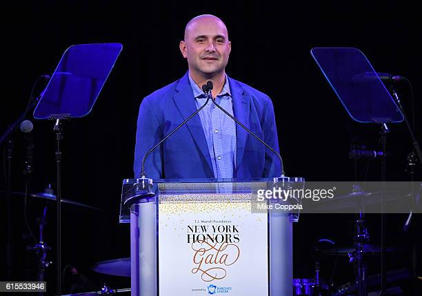Radio personality Craig Carton speaks on stage during TJ Martell Foundation's 41st Annual Honors Gala at Gustavino's on October 18 2016 in New York...