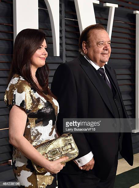 Radio personality Dee Dee Benkie and actor Paul Sorvino attend the 2015 Vanity Fair Oscar Party hosted by Graydon Carter at the Wallis Annenberg...