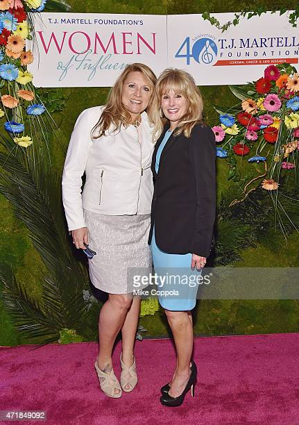 Radio personality Delilah and CEO TJ Martell Foundation Laura Heatherly attend the TJ Martell Foundation's Women of Influence Awards on May 1 2015 in...
