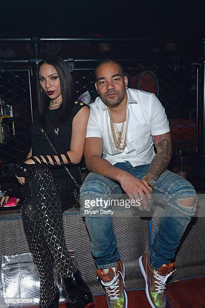 Radio personality DJ Envy and a guest attend the 2015 iHeartRadio Music Festival After Party at Light Nightclub on September 19 2015 in Las Vegas...