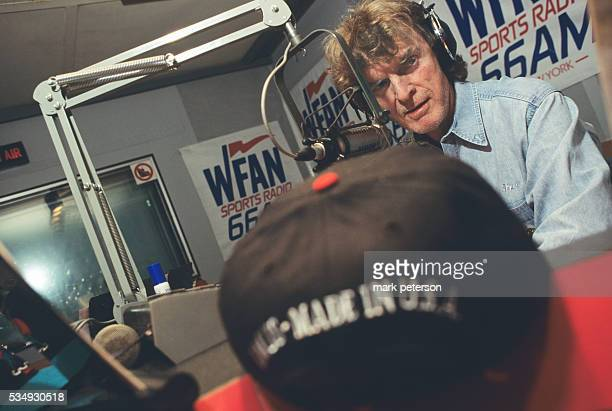 Radio personality Don Imus at WFAN studio in Manhattan