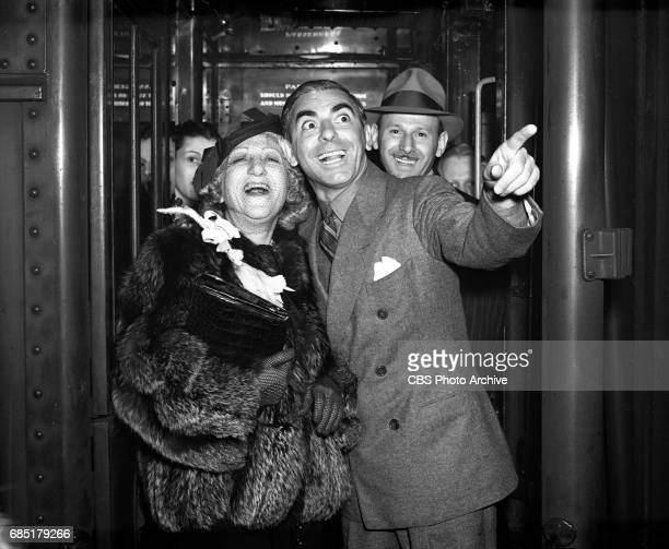 Radio personality Eddie Cantor Mrs Ida Cantor leaving on a train from Grand Central Terminal New York NY Image dated May 10 1938