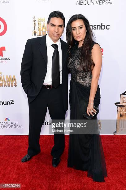 Radio personality Eddie Piolin Sotelo and Maria Luisa Sotelo attend the 2014 NCLR ALMA Awards at the Pasadena Civic Auditorium on October 10 2014 in...