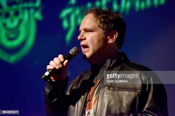 Radio personality Eddie Trunk appears onstage during Frontiers Rock Holiday Bash at The Canyon Club on December 2 2017 in Agoura Hills California