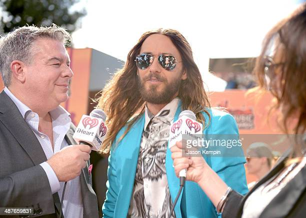 Radio personality Elvis Duran and actor Jared Leto attend the 2014 iHeartRadio Music Awards held at The Shrine Auditorium on May 1 2014 in Los...