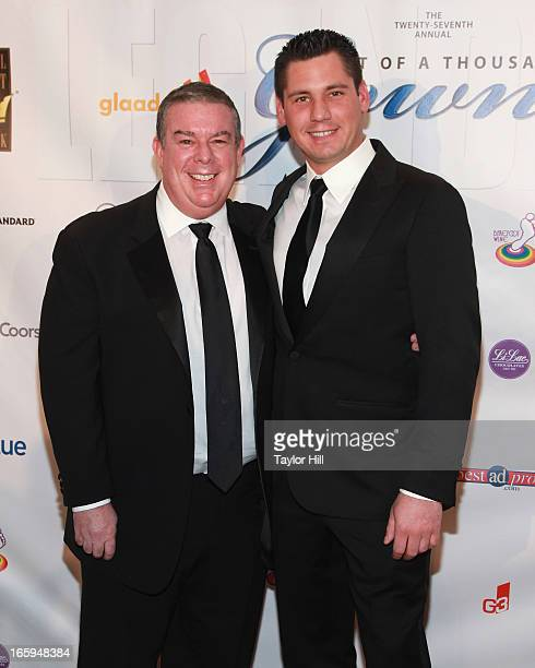 Radio personality Elvis Duran and boyfriend Alex Carr attend the 27th Annual Night Of A Thousand Gowns at the Hilton New York on April 6 2013 in New...