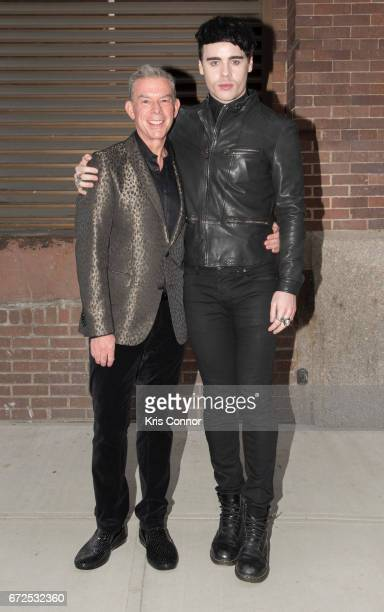 Radio personality Elvis Duran and Leon Else attend the George Michael Tribute Concert presented by VH1's Save The Music at Highline Ballroom on April...