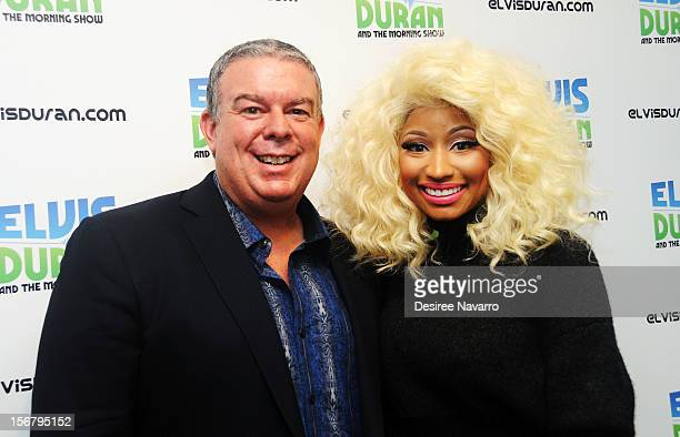 Radio Personality Elvis Duran and singer Nicki Minaj visit at Z100 Studio on November 21 2012 in New York City