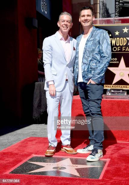 Radio personality Elvis Duran with his partner Alex Carr receives a star on the Hollywood Walk of Fame on March 2 2017 in Los Angeles California