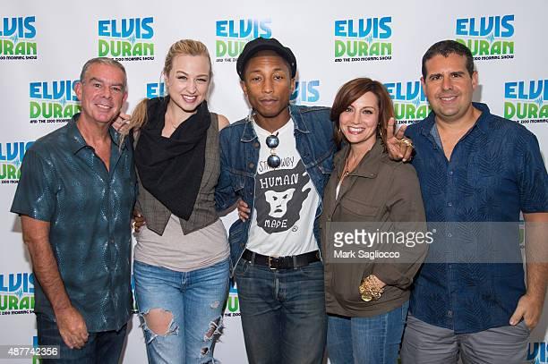 Radio Personality Elvis Duran Z100 Cast Member Bethany Watson Singer/Songwriter Pharrell Williams Z100 Cast Members Danielle Monaro and Skeery Jones...