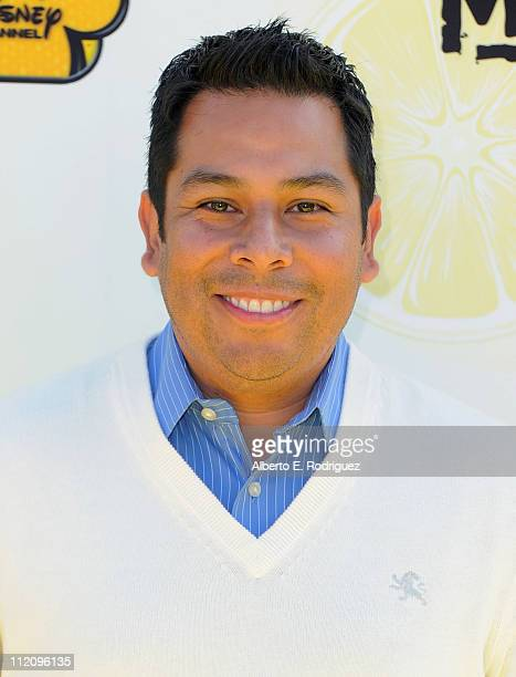 """Radio personality Ernie D. Arrives to the premiere of Disney Channel's """"Lemonade Mouth"""" at Stevenson Middle School on April 12, 2011 in Los Angeles,..."""