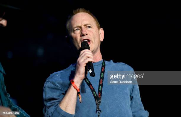 Radio personality Gene 'Bean' Baxter of the 'Kevin Bean Show' appears onstage during night two of KROQ Almost Acoustic Christmas 2017 at The Forum on...