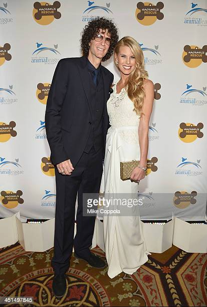 Radio personality Howard Stern and Beth Ostrosky Stern attend the 2013 Animal League America Celebrity gala at The Waldorf Astoria on November 22...