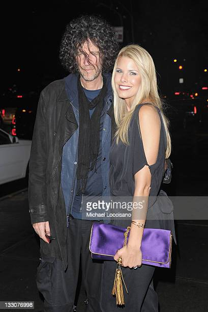 Radio personality Howard Stern and his wife Beth Ostrosky attend the Cinema Society DKNY screening of The Twilight Saga Breaking Dawn Part 1 at...