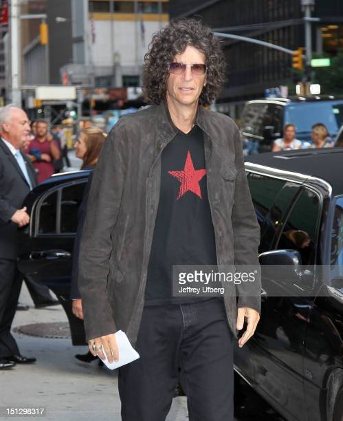 Radio personality Howard Stern arrives to Late Show with David Letterman at Ed Sullivan Theater on September 5 2012 in New York City