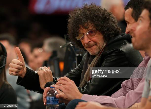 Radio personality Howard Stern attends a game between the New York Knicks and the Milwaukee Bucks at Madison Square Garden on December 1 2018 in New...