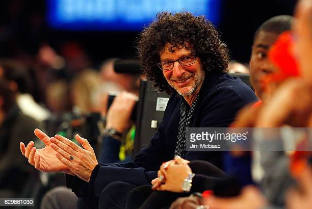 Radio personality Howard Stern attends a game between the New York Knicks and the Cleveland Cavaliers at Madison Square Garden on December 7 2016 in...