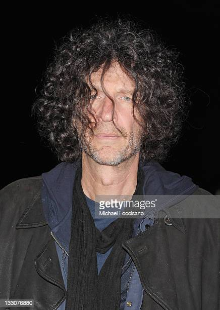 Radio personality Howard Stern attends the Cinema Society DKNY screening of The Twilight Saga Breaking Dawn Part 1 at Landmark Sunshine Cinema on...