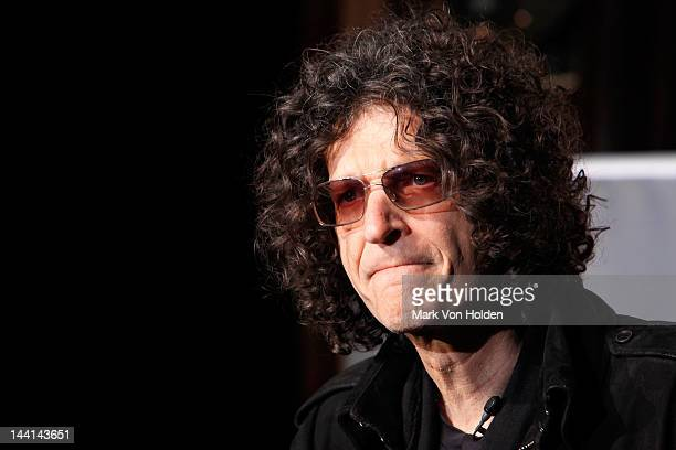 Radio personality Howard Stern speaks at the America's Got Talent Press Conference at New York Friars Club on May 10 2012 in New York City