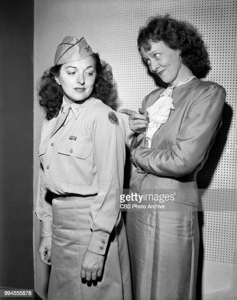 Radio personality Irene Beasley and radio vocalist Diane Courtney in uniform August 16 1944