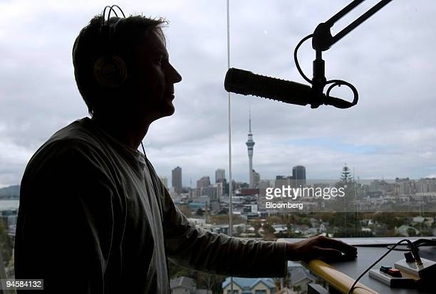 A radio personality is seen at More FM radio station which is part of CanWest MediaWorks Ltd in Auckland New Zealand on Wednesday May 16 2007...