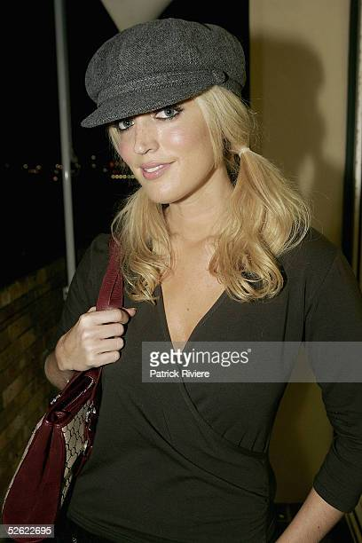 Radio personality Jackie O attends the Cleo Centrefold sizzling VIP and Celebrity BBQ at the North Bondi Surf Life Saving Club on April 13 2005 in...