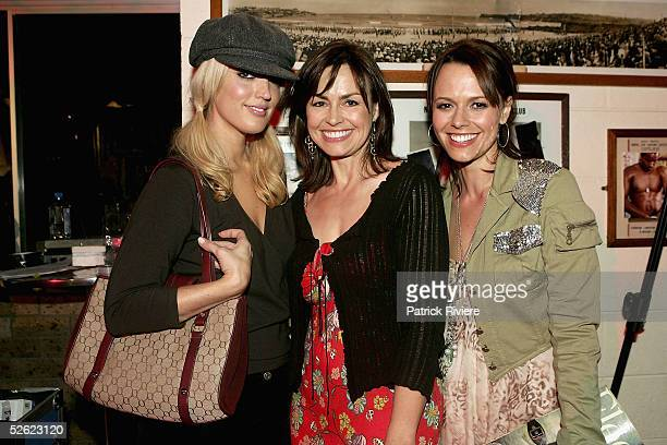 Radio personality Jackie O TV personality Lisa Wilkinson and Group and Cleo editor Mia Freedman attend the Cleo Centrefold sizzling VIP and Celebrity...