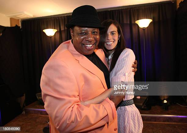 Radio personality Jeff Foxx and singer Jill Criscuolo visits 'The Jeff Foxx Radio Show' on August 20 2012 in West Orange New Jersey