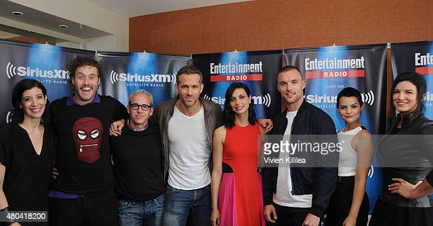 Radio personality Jessica Shaw actor TJ Miller editorial director of EW Jess Cagle actors Ryan Reynolds Morena Baccarin Ed Skrein Brianna Hildebrand...