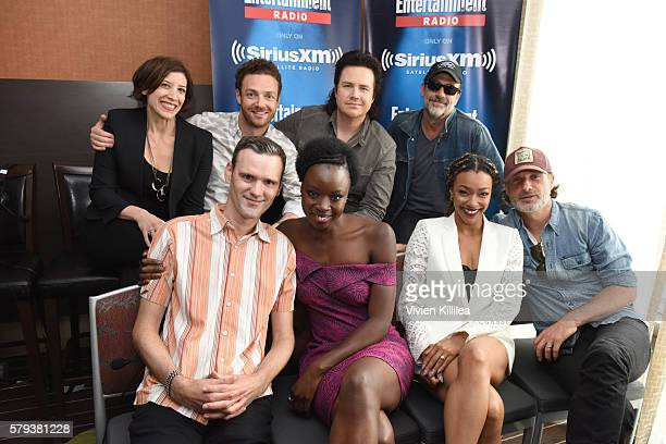 Radio personality Jessica Shaw actors Ross Marquand Josh McDermitt and Jeffrey Dean Morgan radio personality Dalton Ross and actors Danai Gurira...