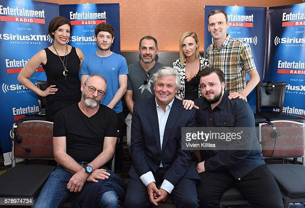 Radio personality Jessica Shaw ctor Iwan Rheon director Miguel Sapochnik actress Faye Marsay radio personality Dalton Ross and actors Liam Cunningham...
