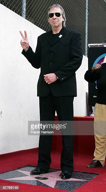 Radio personality Jim Ladd receives his star on the Hollywood Walk of Fame on May 6 2005 in Hollywood California