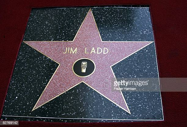 Radio personality Jim Ladd's star is seen on the Hollywood Walk of Fame on May 6 2005 in Hollywood California