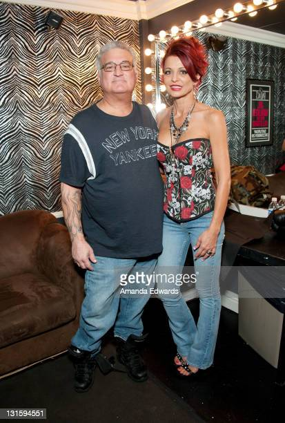 Radio personality Joey Buttafuoco and his wife Evanka pose backstage at the FilmOn Celebrity Fight Night at Avalon on November 5 2011 in Hollywood...