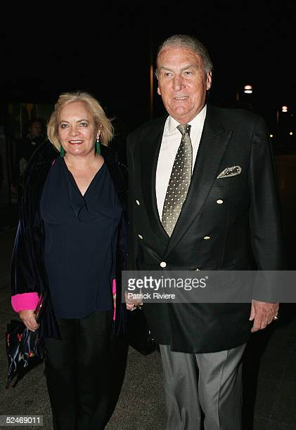 Radio personality John Laws and his wife Caroline attend the 5th anniversary of Otto Ristorante Italiano The Finger Wharf Woolloomooloo March 23 2005...