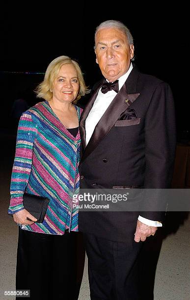 Radio personality John Laws and his wife Caroline attend the Sony Foundation True Colours Gala Ball held at Wharf 8 on October 8 2005 in Sydney...