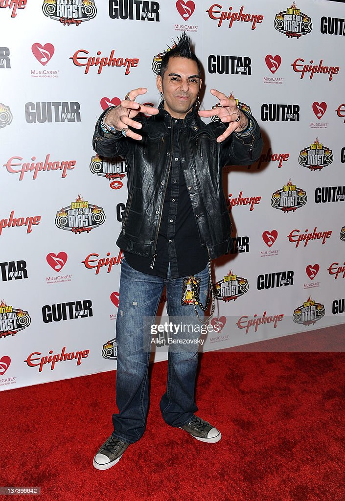 Radio personality Jose Mangin arrives at the Guitar World's Rock & Roll roast of Zakk Wylde at City National Grove of Anaheim on January 19, 2012 in Anaheim, California.
