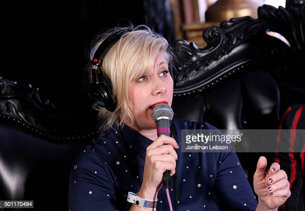 Radio personality Kat Corbett attends 1067 KROQ Almost Acoustic Christmas 2015 at The Forum on December 12 2015 in Los Angeles California