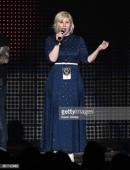 Radio personality Kat Corbett speaks onstage during 106.7