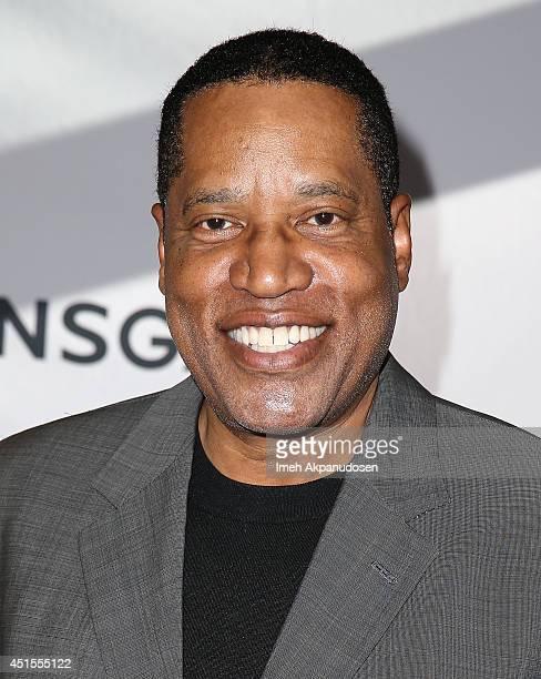 Radio personality Larry Elder attends the premiere of Lionsgate Films' 'America' at Regal Cinemas LA Live on June 30 2014 in Los Angeles California