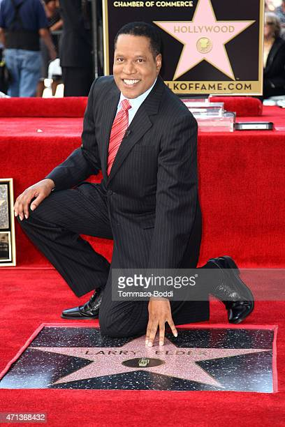 Radio Personality Larry Elder is honored with a star on the Hollywood Walk Of Fame on April 27 2015 in Hollywood California