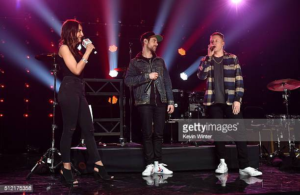 Radio personality Letty B, recording artists Ryan Lewis and Macklemore speak LIVE On The Honda Stage at the iHeartRadio Theater on February 24, 2016...