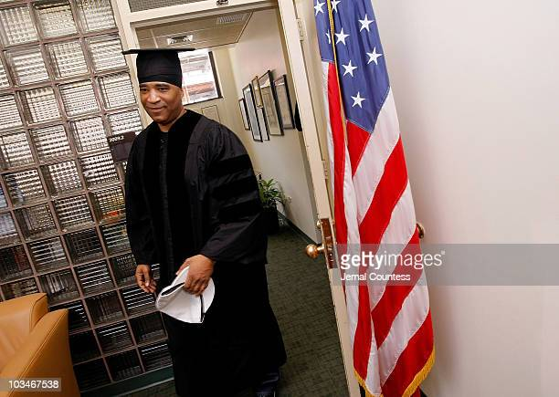 Radio personality Marley Marl attends the 3rd Pi Eta Kappa Honor Society Induction Ceremony at Medgar Evers College on April 25 2008 in Brooklyn NY