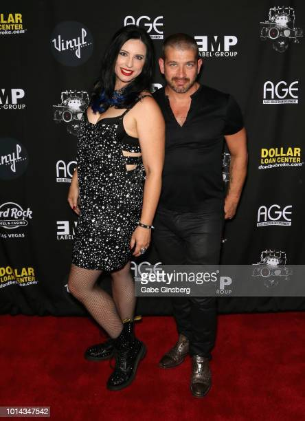Radio personality Nikki Blakk and DJ Cip attend a CD release party for COOP at Vinyl inside the Hard Rock Hotel Casino on August 9 2018 in Las Vegas...