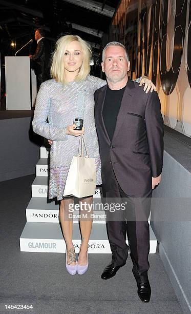 Radio Personality Of The Year Fearne Cotton and presenter Chris Moyles pose at the Glamour Women of the Year Awards in association with Pandora at...
