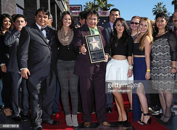 Radio personality Renan Almendarez Coello aka El Cucuy de la Manana is honored with a Star on the Hollywood Walk of Fame on November 25 2014 in...